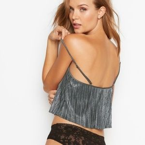 514f3ba787 Victoria s Secret Intimates   Sleepwear -  Victoria s Secret  Shine Pleat  Crop Cami Top
